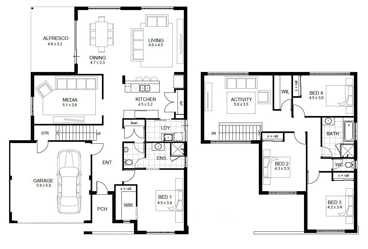 Wedgewood Combined Floorplan Jpg 1173 792 Home Design Floor Plans Simple Floor Plans 2 Storey House Design