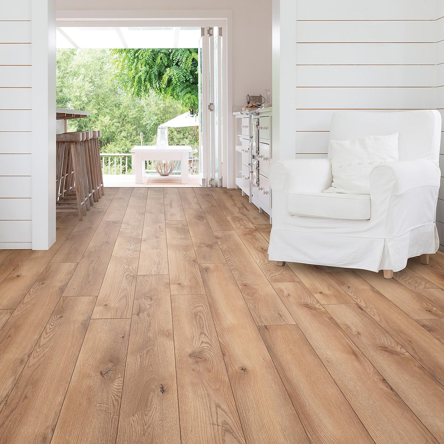 Select Surfaces Laminate Flooring Canyon Oak 16 91 Sq Ft Sam S Club In 2020 Wood Floors Wide Plank Hardwood Floor Colors Oak Laminate Flooring