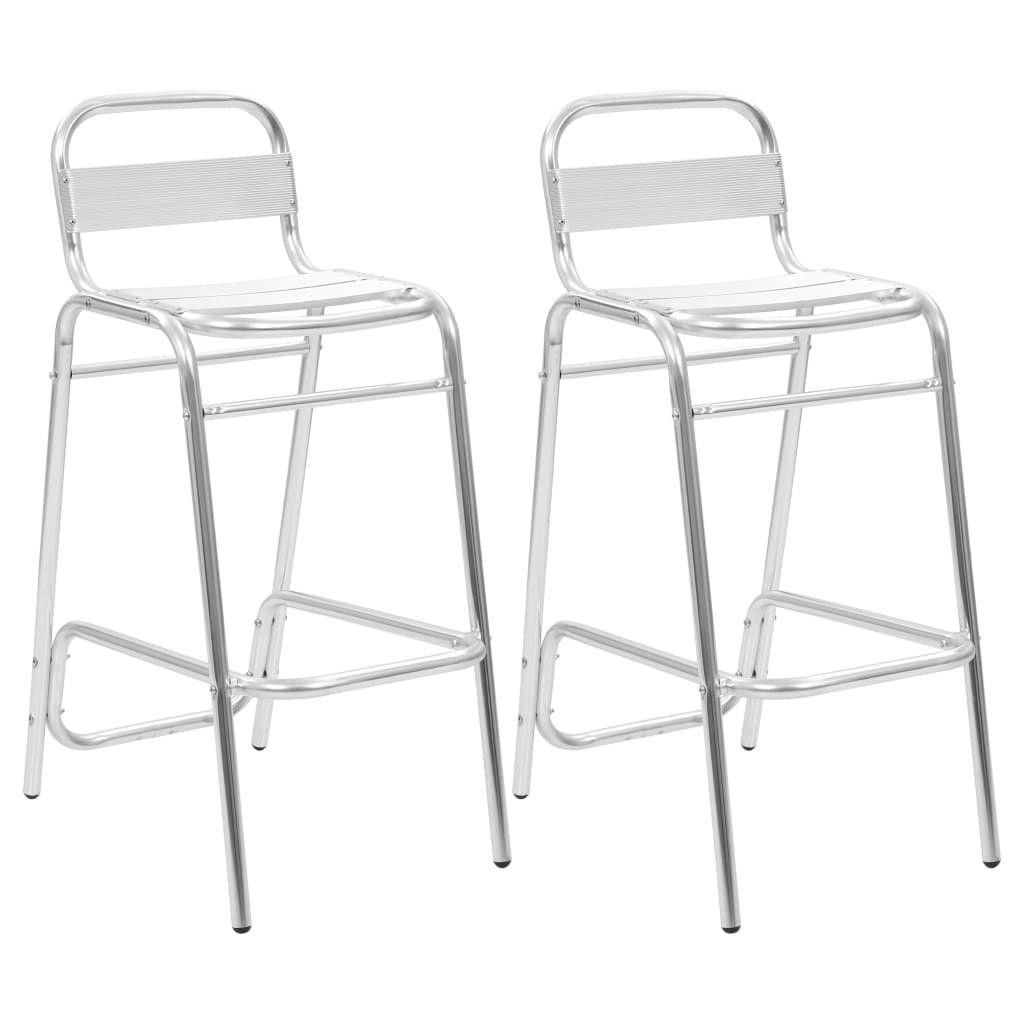 vidaXL Stackable Bar Chairs 2 pcs Aluminium