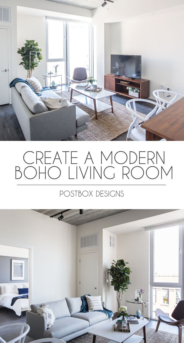 See the Before & Afters of This Modern Boho Living Room Makeover ...