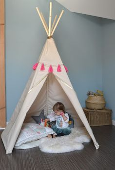 hello birdie diy le tipi chambre fille pinterest tuto tipi bricolage et cr er. Black Bedroom Furniture Sets. Home Design Ideas