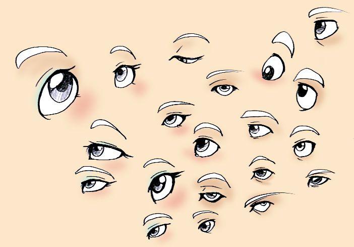 Eyes Reference by =Fyuvix on deviantART