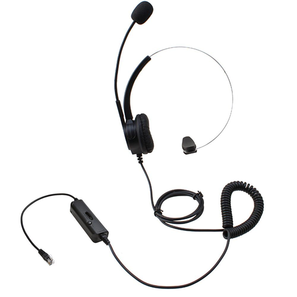 AGPtEK Hands-free Call Center Noise Cancelling Corded