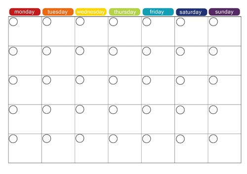 monthly plan template