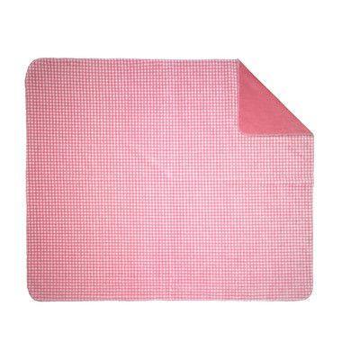 """Denali Gingham Throw Blanket Size: 60"""" L W x 70"""" W, Color: Light Pink"""
