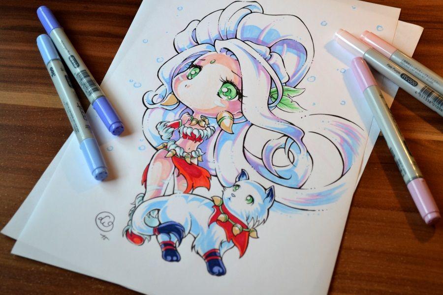 Snow Bunny Nidalee Splash Art