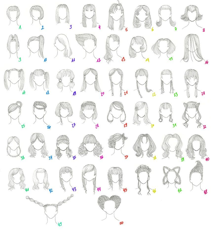 50 Female Anime Hairstyles By Miriamdreesbach On Deviantart Female Anime Hairstyles Manga Hair Anime Hair