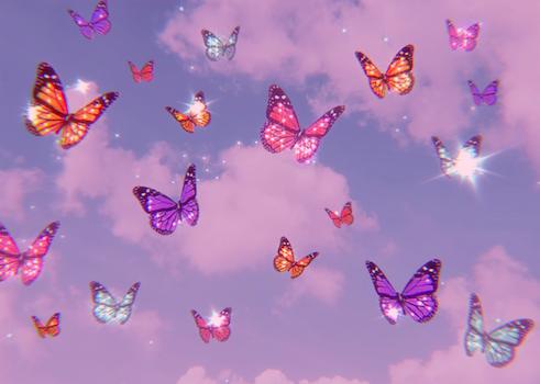aesthetic glitter butterflies