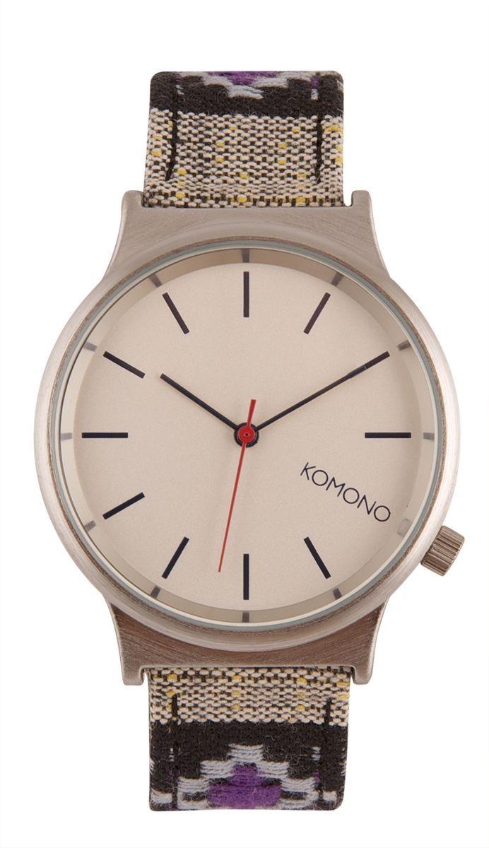 Horloges watch the wizard print black panamerica by komono at