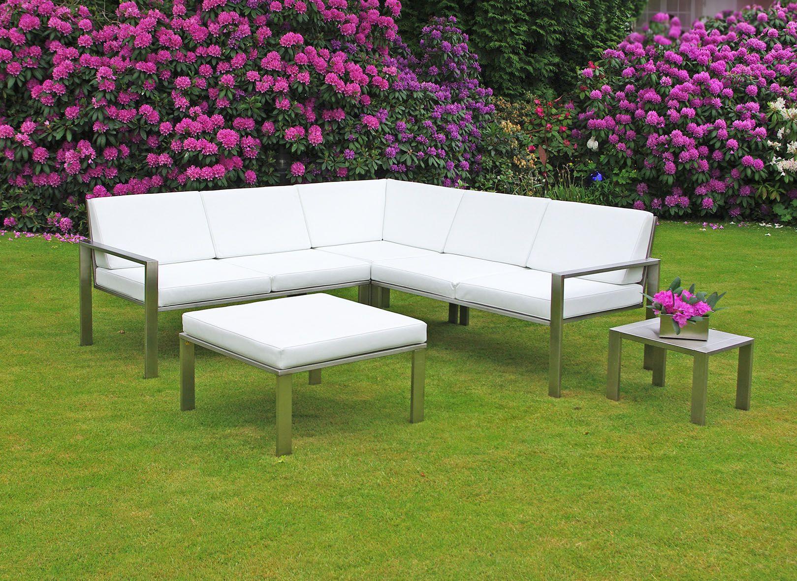 Lounge ecksofa garten  Aus gemütlichen Minuten im Garten werden mit dem stilvollen Lounge ...