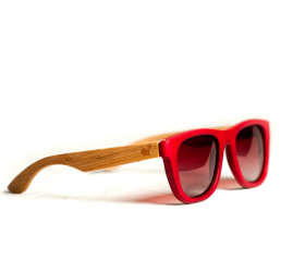 Red Bamboo Shades