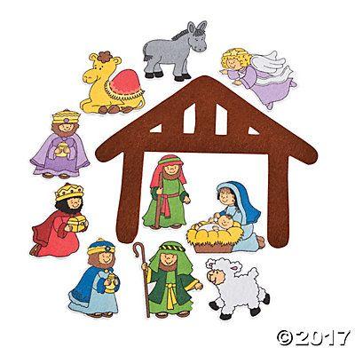 Nativity Felt Cutouts 8 50 Nativity The Nativity Story A Christmas Story