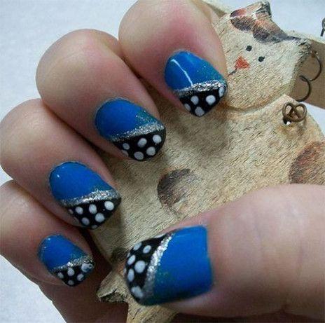 53 ideas for nails blue square art designs  blue nail art