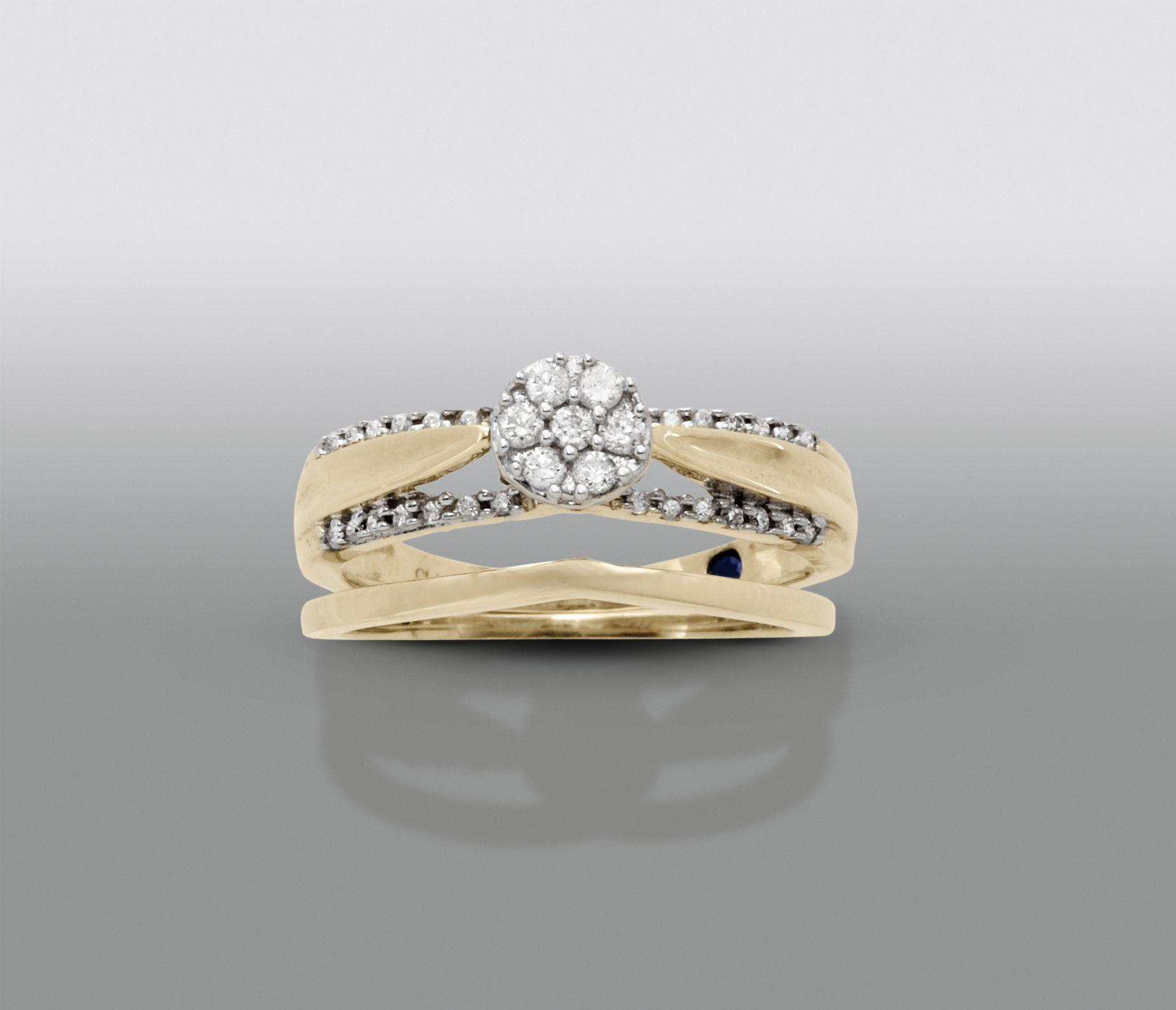 David Tutera 1 4 Cttw Certified Diamond Bridal Set 10kt Yellow