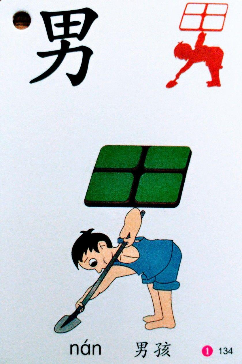 男 (nán) man, male | Learn chinese characters, Learn chinese, Chinese flashcards