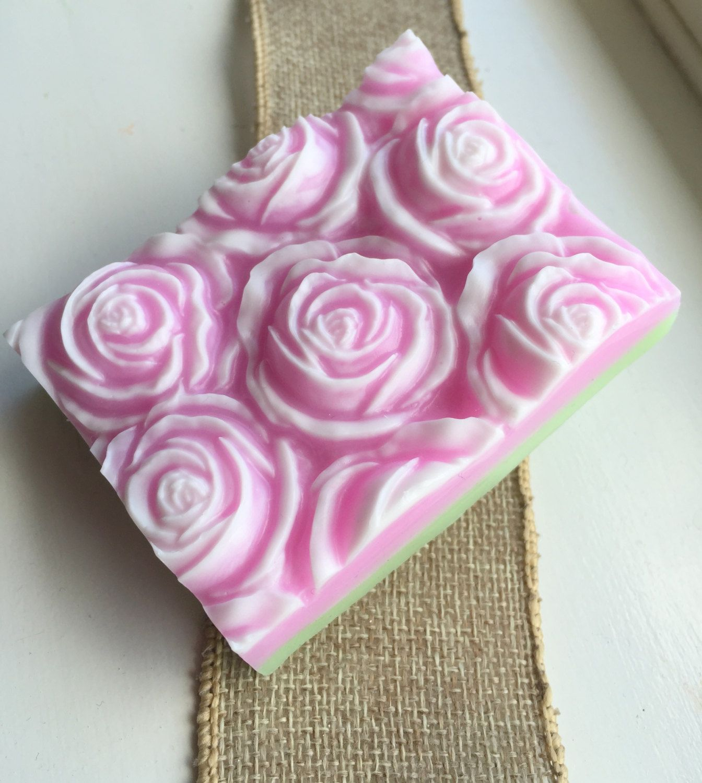English Rose Garden soap bar - Artisan soap - Handmade Rose soap ...