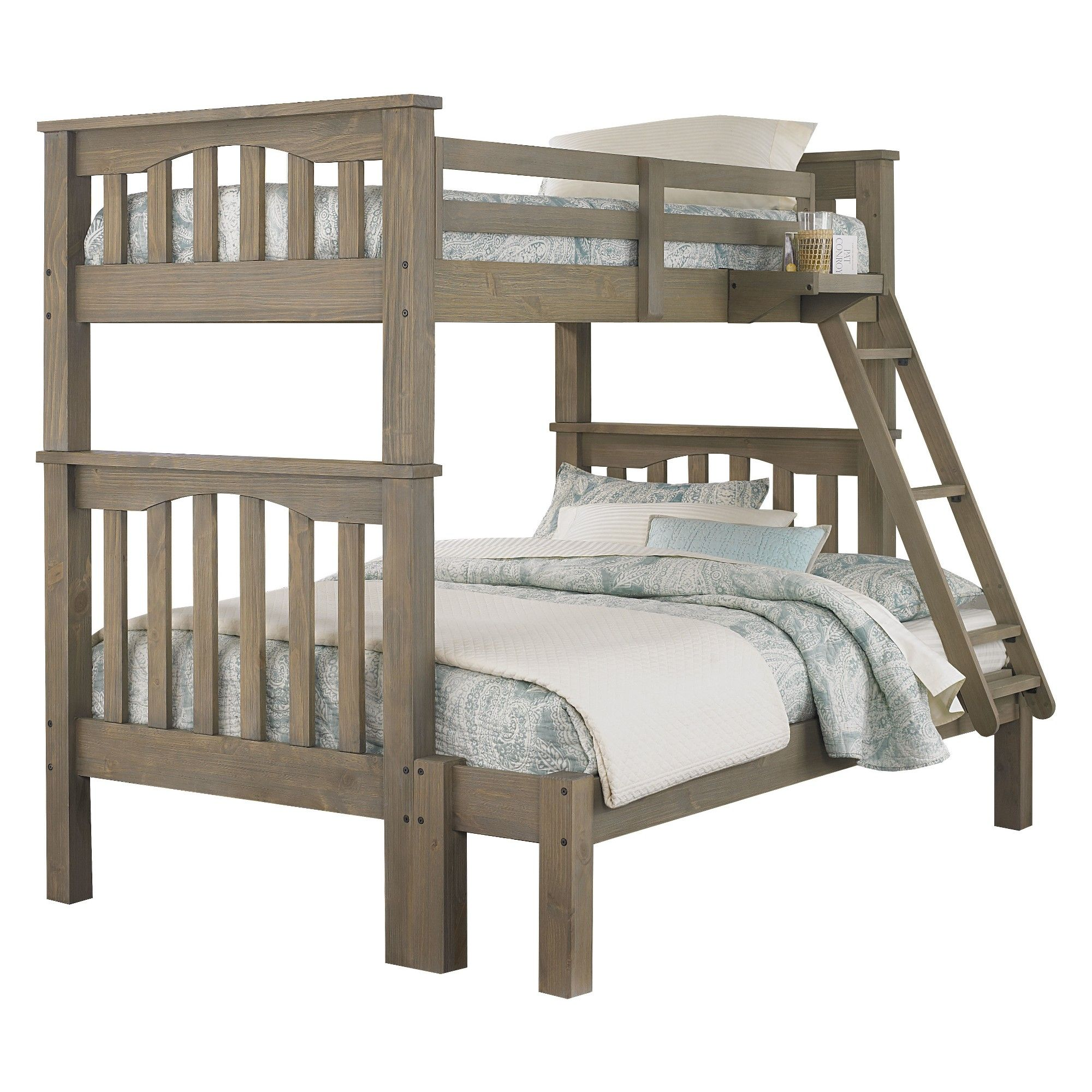 Twin over full loft bed with stairs  Twin Over Full Highlands Harper Bunk Bed with Storage Full