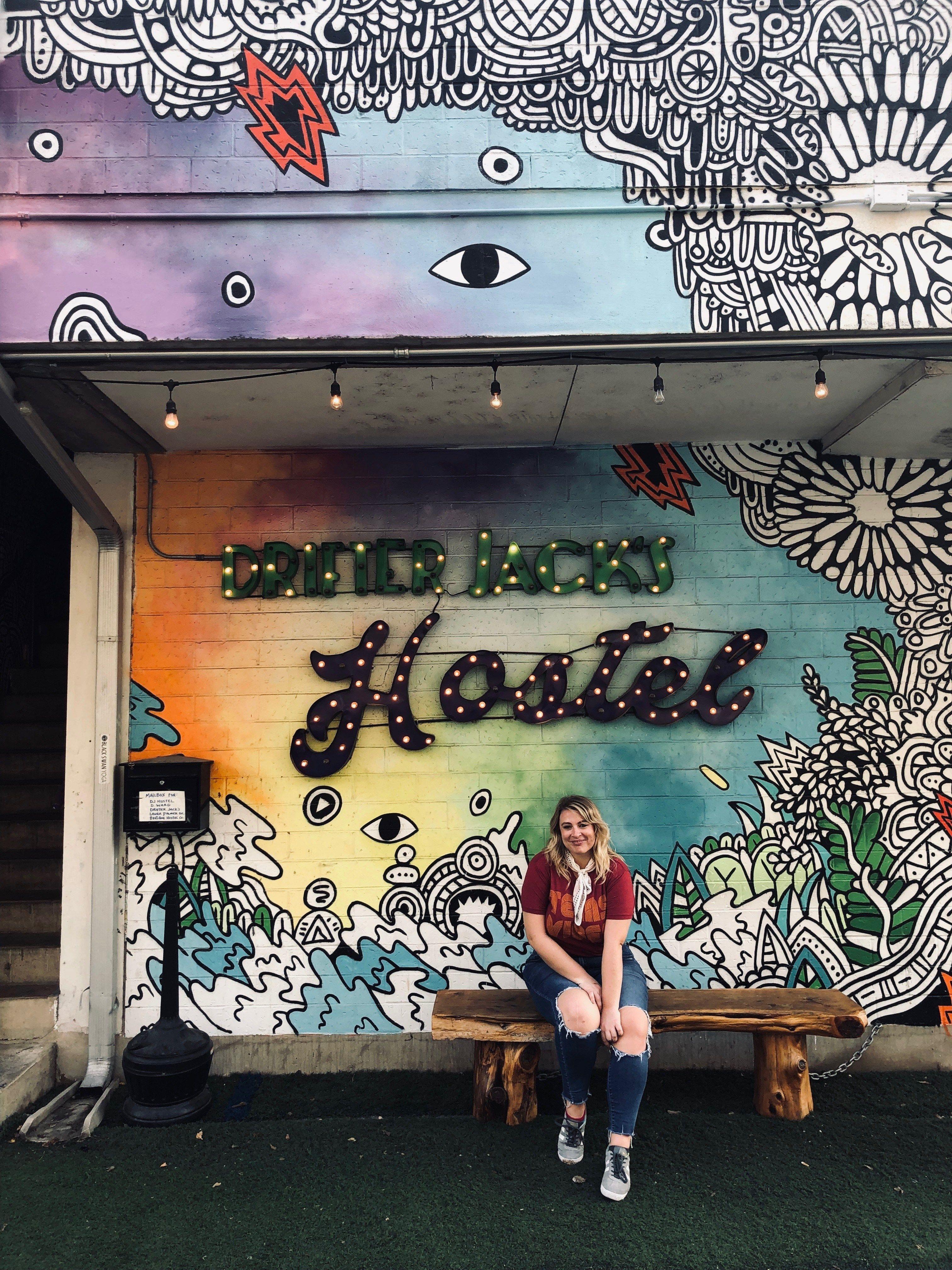 Drifter Jacks Hostel In Austin Texas Austin Murals Mural Family Travel