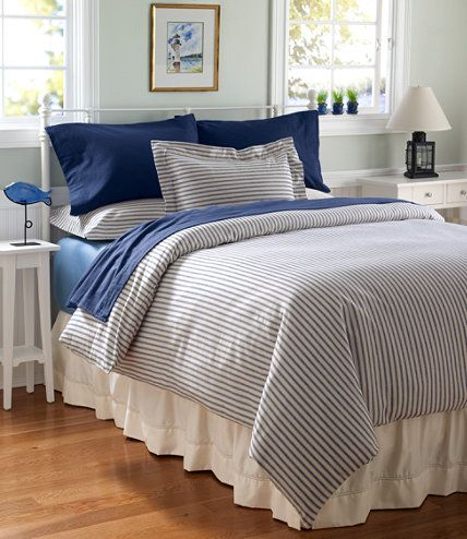 Ultrasoft Flannel Comforter Cover Ticking Stripe Comforter Covers Free Shipping At L L Bean Kids Room Bed New Room Home