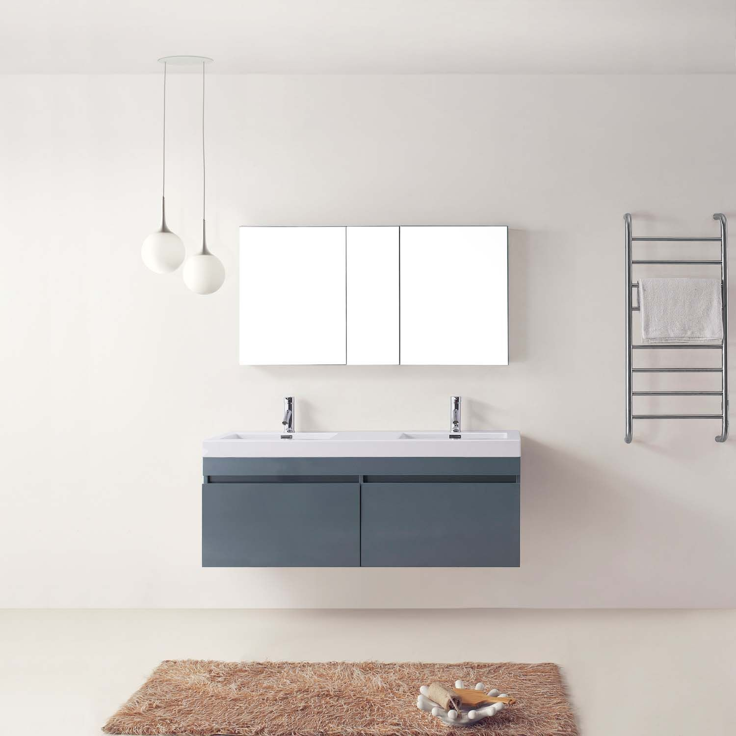 "Virtu USA Zuri 55"" Double Bathroom Vanity Set"