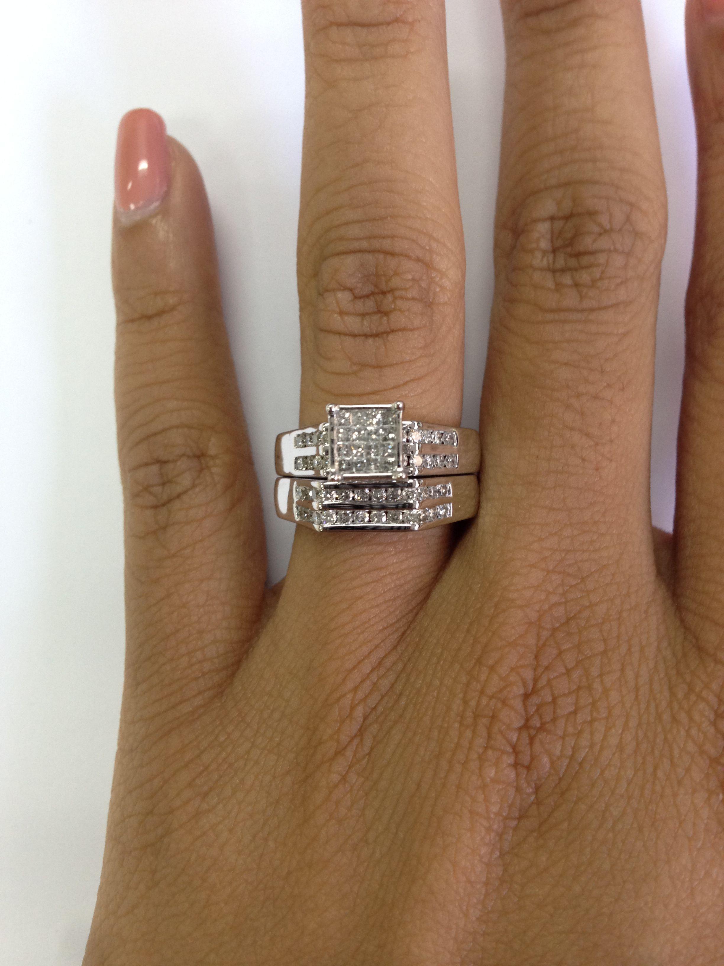1 Carat Diamond Trio Wedding Ring Set 14k Yellow Gold Gold Rings Jewelry Gold Ruby Stud Earrings Wedding Rings