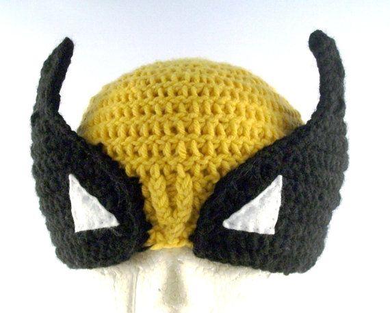 Wolverine Hat PATTERN Crochet XMen Child Beanie by Amigami on Etsy ...
