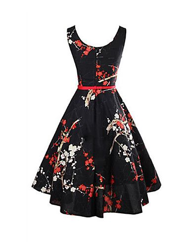 aa23a7e324c Women s Holiday Vintage Sheath Dress - Floral Black