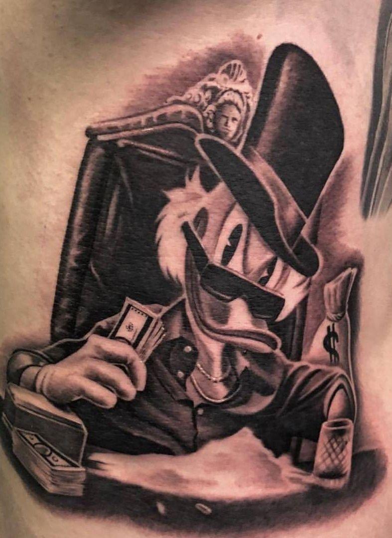 Imagem Por Brandy Karnes Em Ink Tio Patinhas Desenho Tatuagem