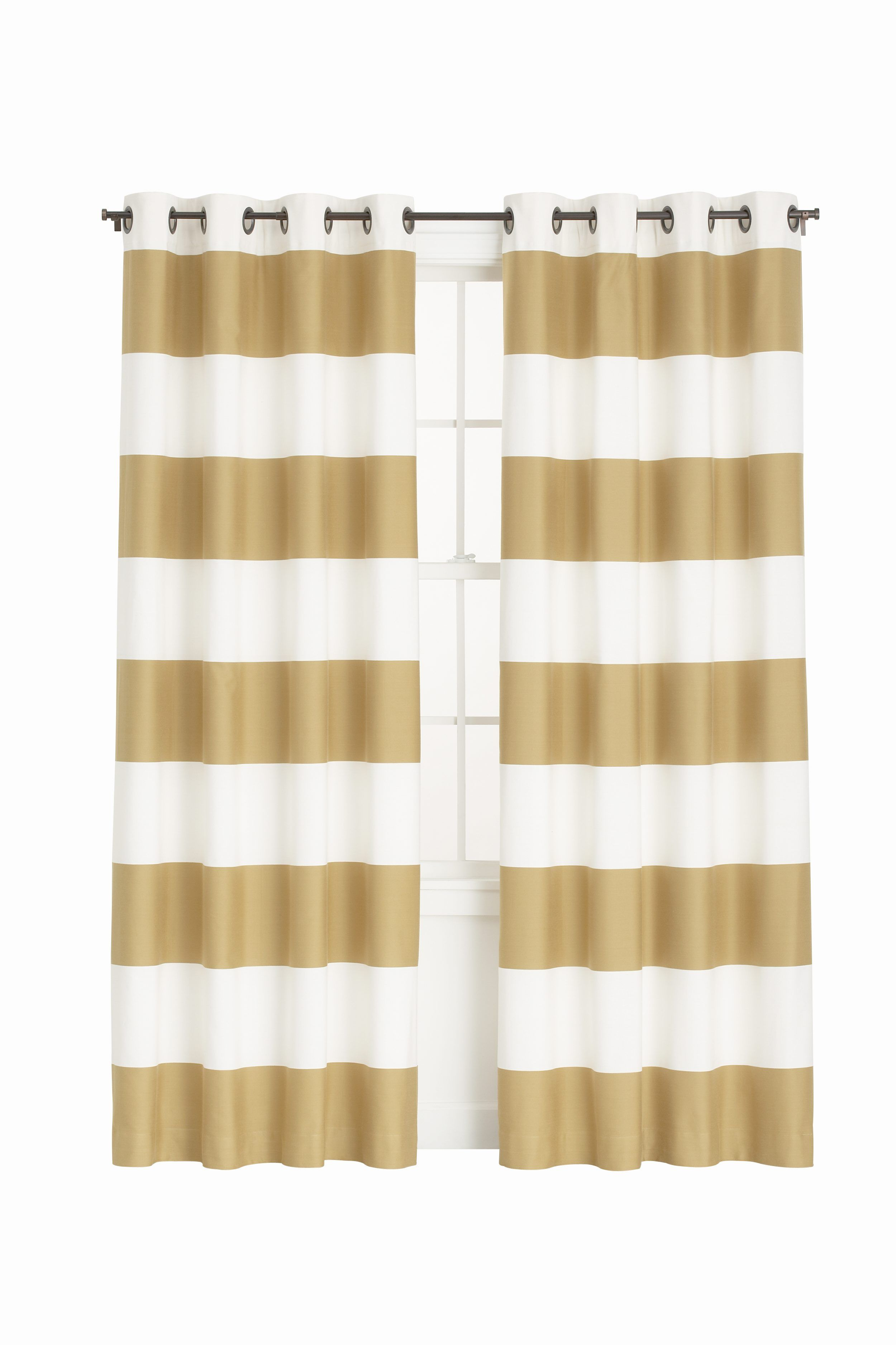 Gold Striped Curtains Panel Curtains Curtains Painted Curtains