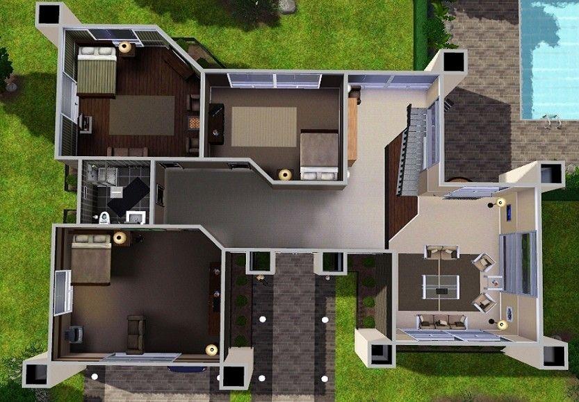Modern House Floor Plans Sims 3 Projekty do wypróbowania - new sims 3 blueprint mode