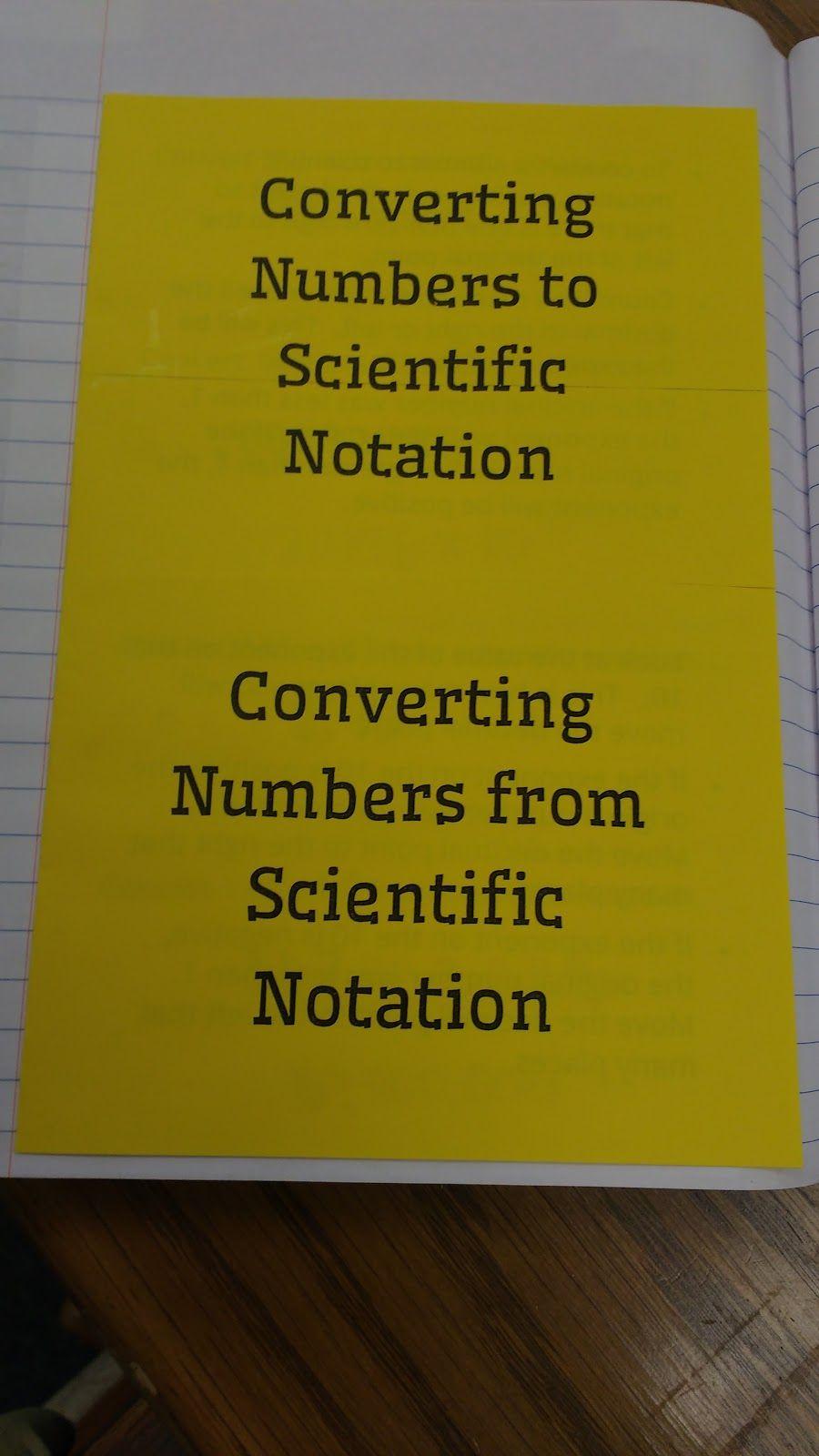 Math = Love Scientific Notation INB Pages Scientific
