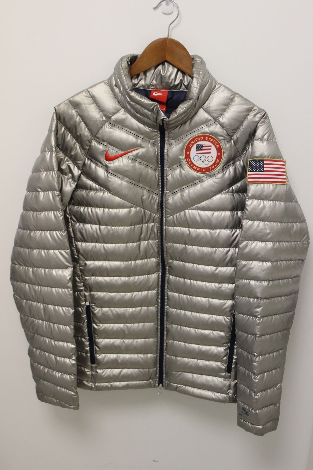 eb7cd3a72 Nike Aeroloft 800 Summit 2014 Olympic Silver Jacket Size S $270 ...