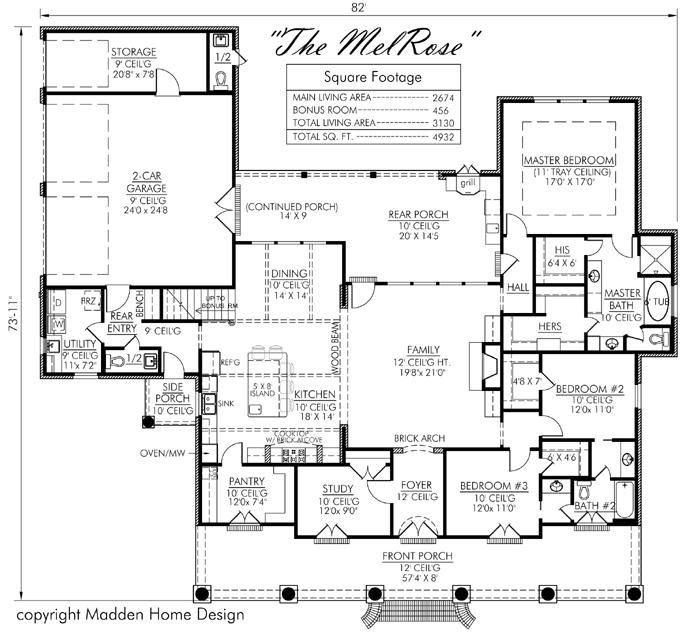 In Love With This Plan It Has Everything Madden Home Design Acadian House Plans Monster House Plans