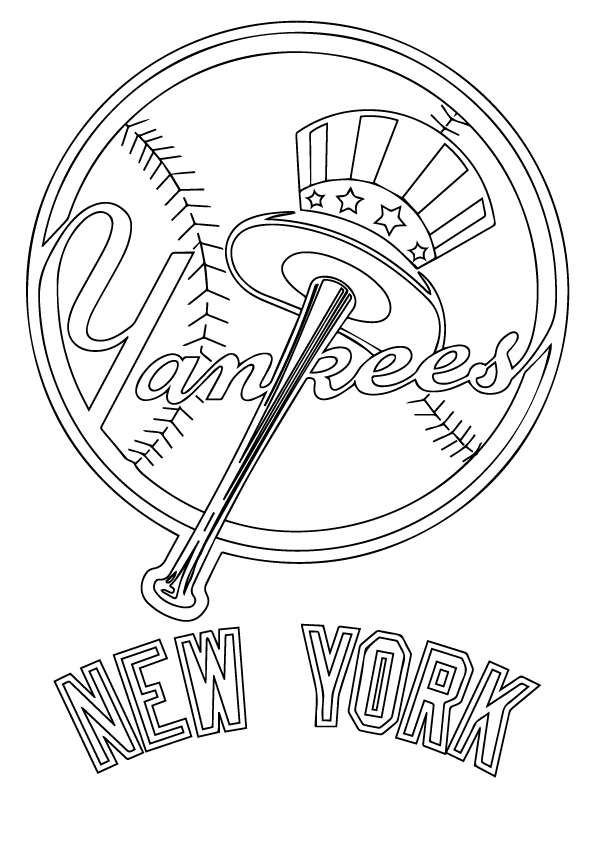 New York Yankees Coloring Page My Fairytale Town New York Yankees Logo Baseball Coloring Pages Yankees Logo