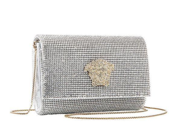 8045dc7642 Versace Palazzo shoulder bag with crystal swarovski mesh