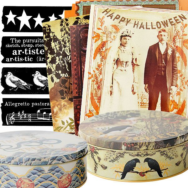 Explore these stunning, new products: vibrantly detailed Halloween cards, gorgeous gold foil embellished tins, and special seasonal washi stamps!