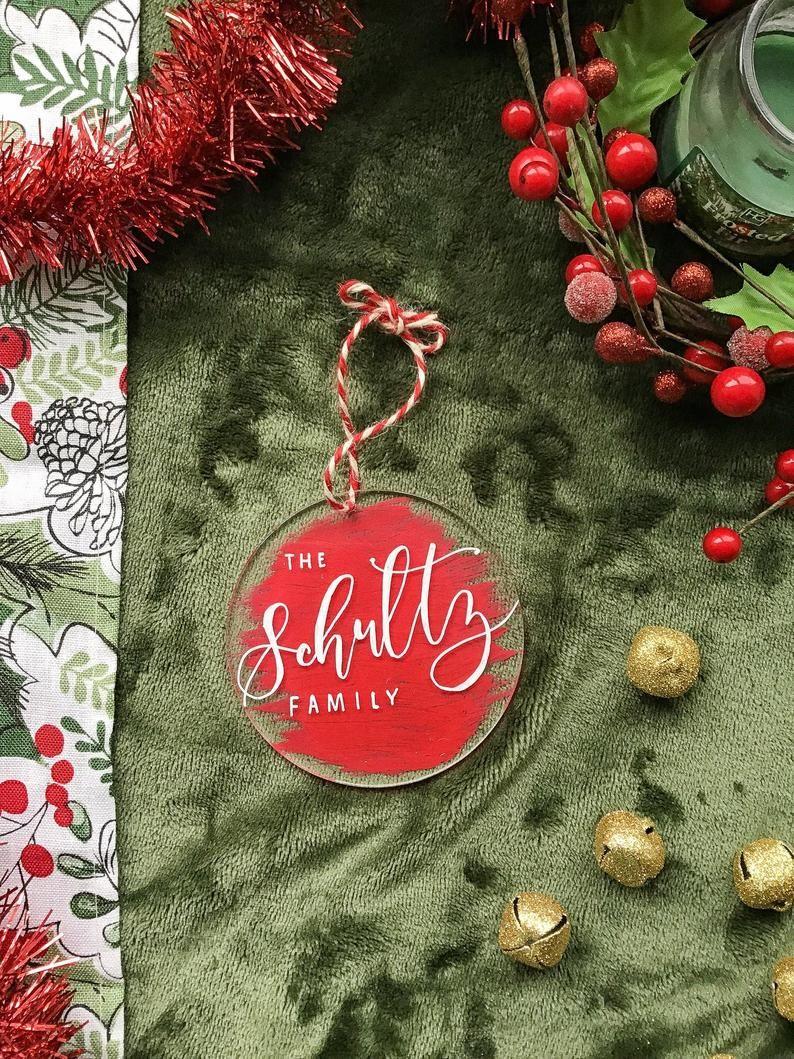 Acrylic Christmas Ornament Christmas Ornament Personalize Personalized Christmas Ornaments Family Personalized Christmas Ornaments Family Christmas Ornaments