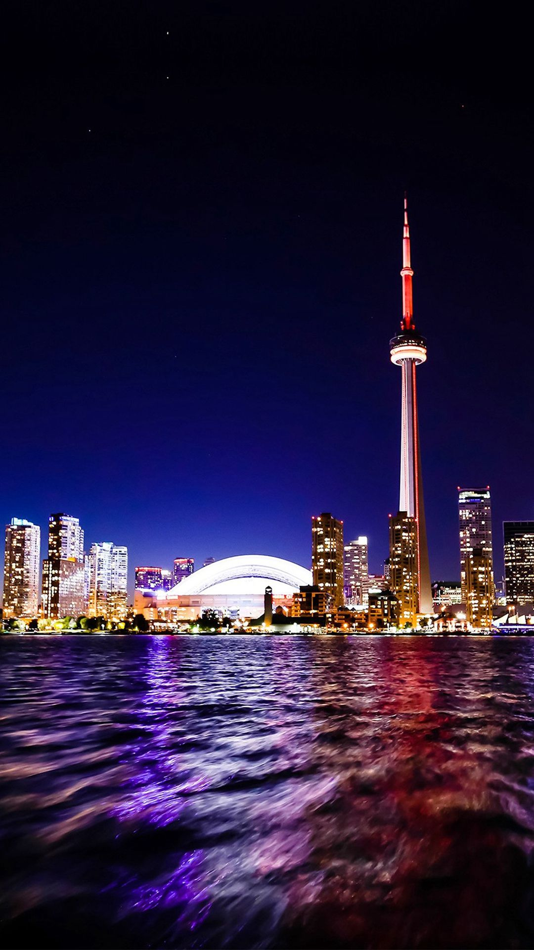 Toronto Lake Canada City Night View #iPhone #7 #wallpaper