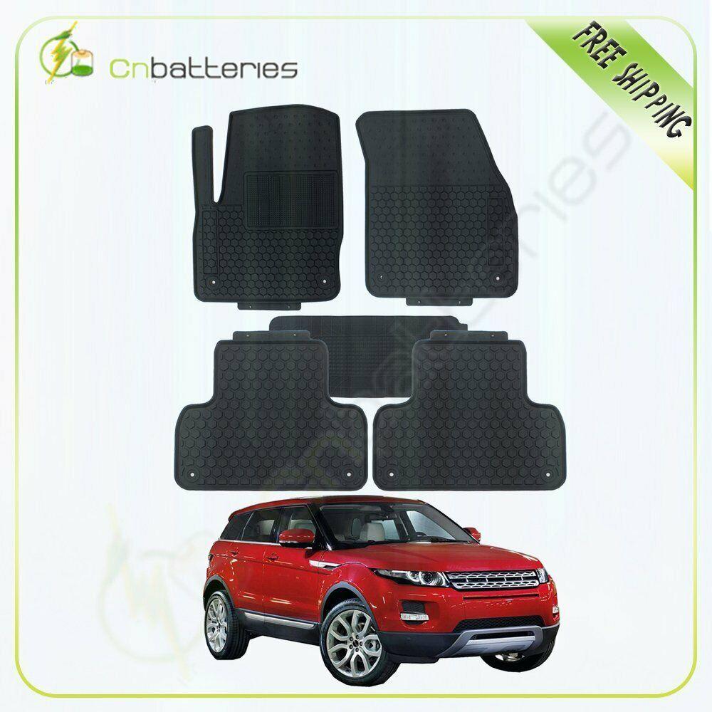 Sponsored Ebay 5pc New For Land Rover Evoque Rubber Anti Skid Car Floor Mats Durable Heavy Duty Car Floor Mats Land Rover