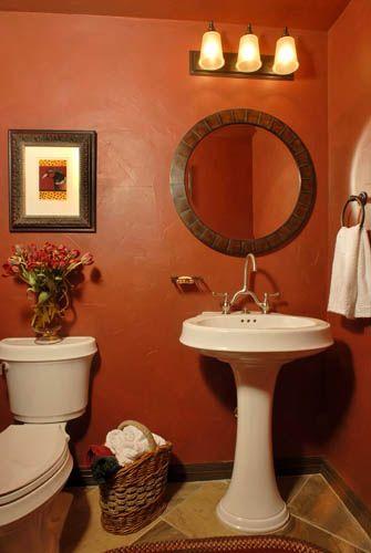 Fun Colored Wall For A Bathroom Dream Home Pinterest Color Walls Walls And Guest Bath