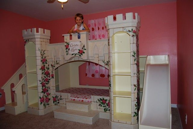 Fascinating Small Bedroom Decorating Ideas For Girls Awesome Castle Eclectic Kids Bedroom Small Bedroom Deco Disney Room Designs Disney Rooms Unique Kids Beds