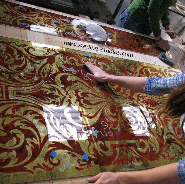 Finished Verre Eglomise Eglomise Pinterest Glass