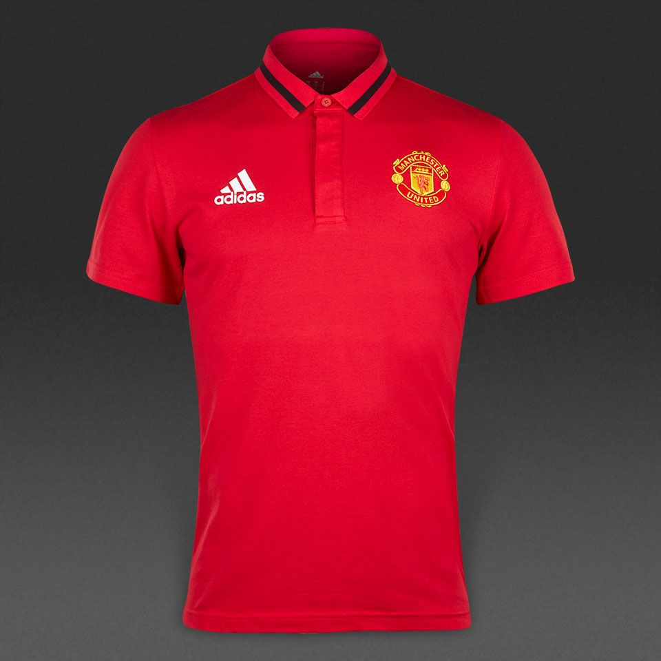 adidas Manchester United 15/16 Anthem Polo - Real Red