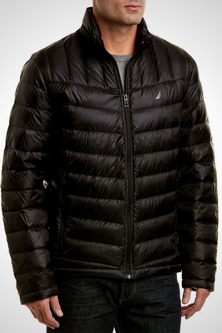 Nautica Men S Lightweight Down Jacket Black Quilted Puffer Jacket Down Jacket Jackets [ 1125 x 750 Pixel ]