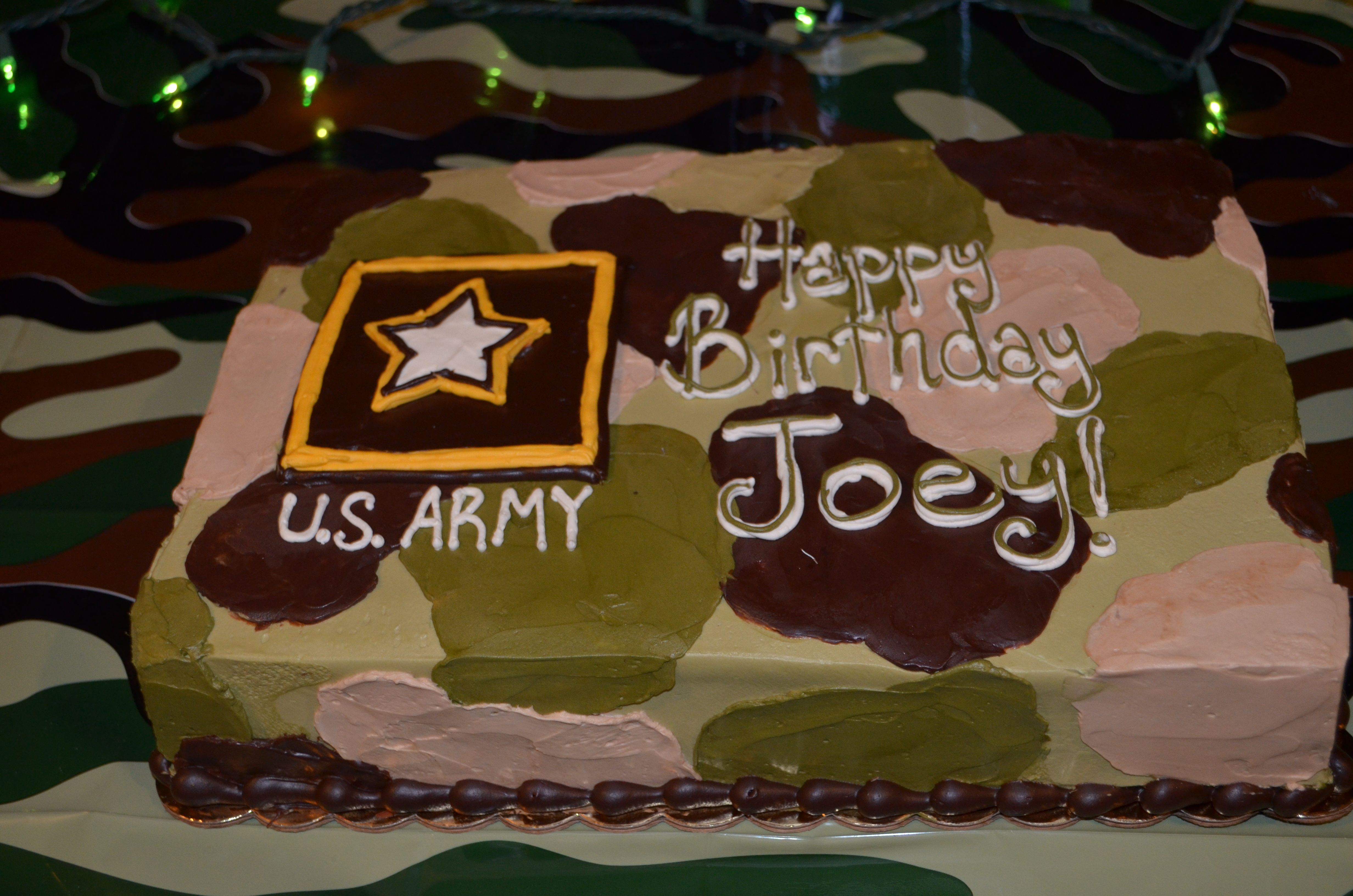 Soldierarmy Cake Ordered From Whole Foods Market Bellevue