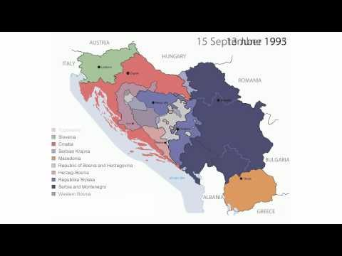 Timeline of the breakup of yugoslavia youtube ap human geography map animation depicting the break up of yugoslavia through the series of political upheavals and conflicts that occurred from the early onwards gumiabroncs Image collections