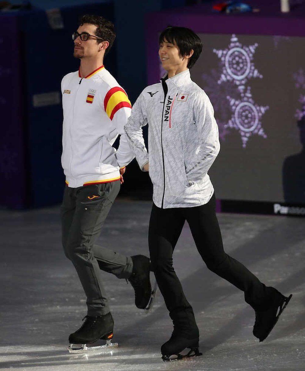 Yuzu On Ice On Instagram Posting Some Good Yuzuvier From The Olys Looks Like They Are Just Clown Hanyu Yuzuru Figure Skating Olympics Figure Skating