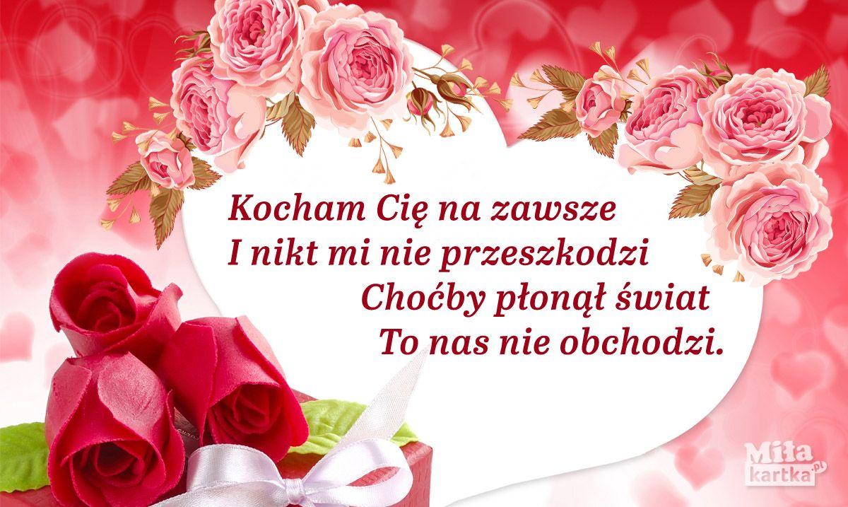 Kocham Cie Na Zawsze Milosc Walentynki In 2020 With Images