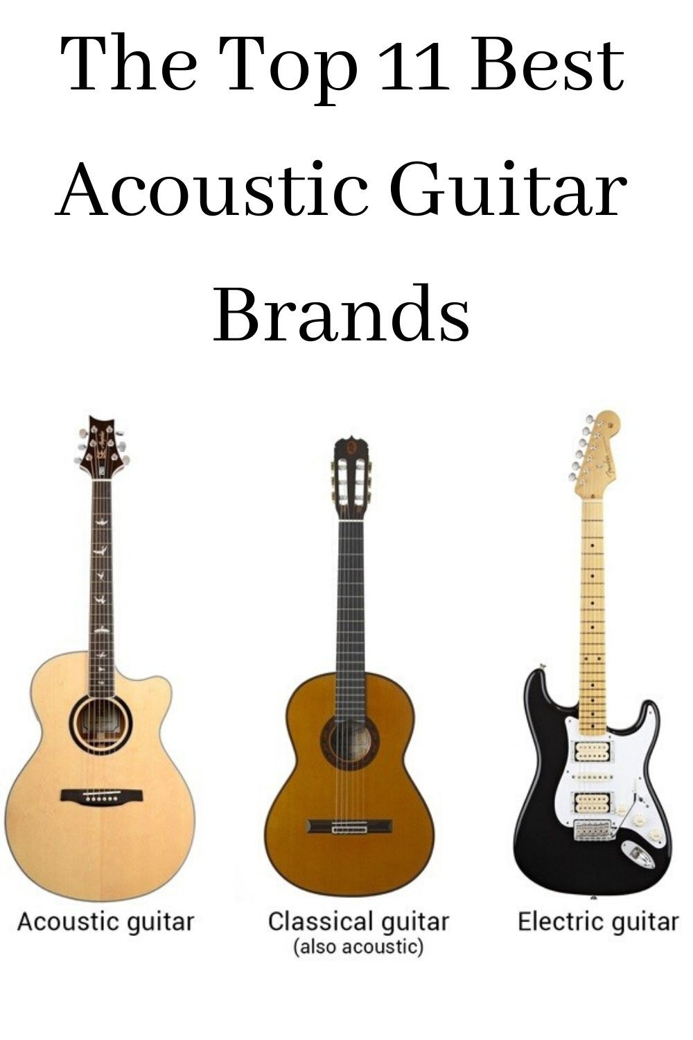 The Top 11 Best Acoustic Guitar Brands In 2020 Best Acoustic Guitar Guitar Acoustic Guitar