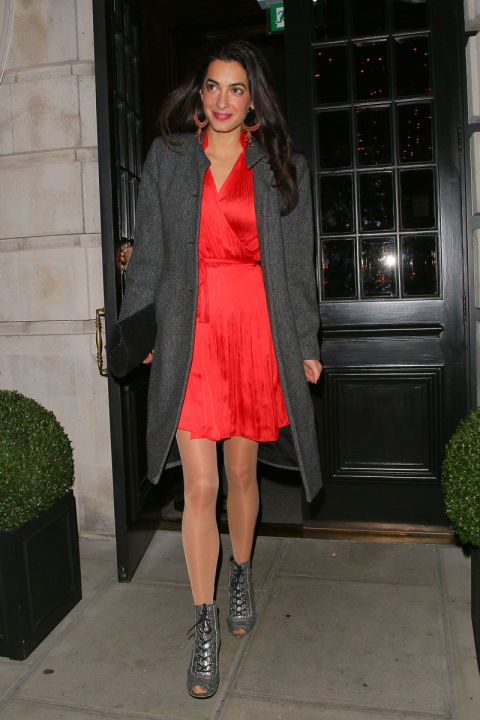 Amal Clooney Wore the Chicest Long Leather Skirt  07951d2fedb4